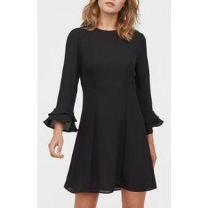 Fluttery sleeve H&M black dress
